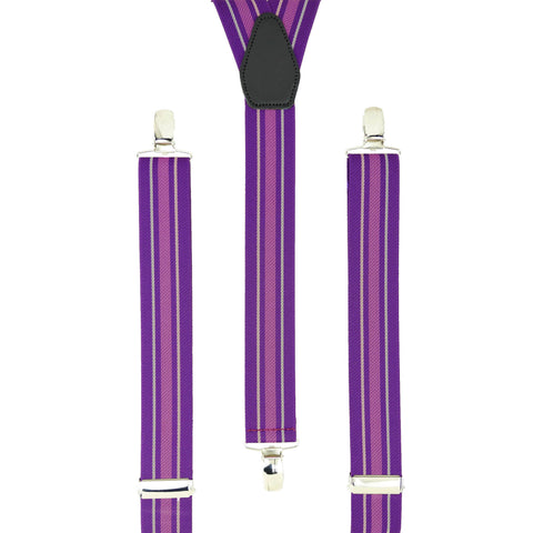 Multi Lilac Vertical Stripes
