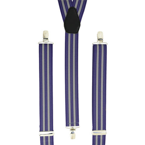 Multi Purple Vertical Stripes
