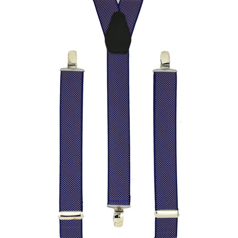 Blue and Lilac Microweave Trouser Braces