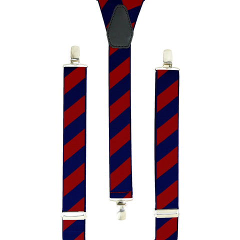 Red and Blue Striped Trouser Braces