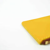 Yellow Leather Zip Purse - Roam