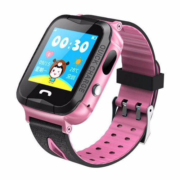 V6 Smart Watch With GPS Tracker Camera Anti Lost Monitor SOS Call Waterproof Children Watch