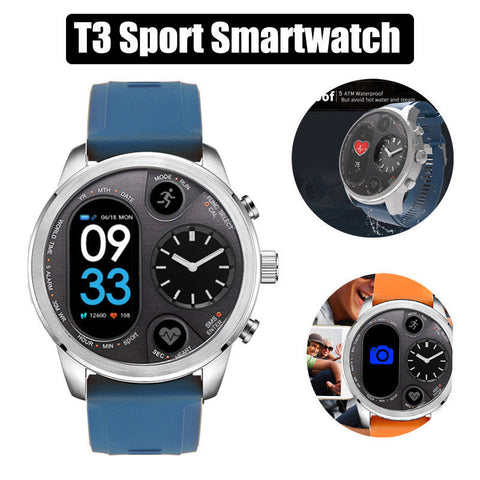 T3 Sport Smart Watch Standby Stainless Steel Fitness Tracker IP68