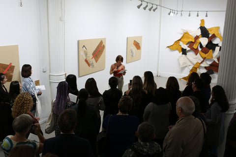 Kaila Rose poetry reading to cut Yi Gallery New York Borisova opening
