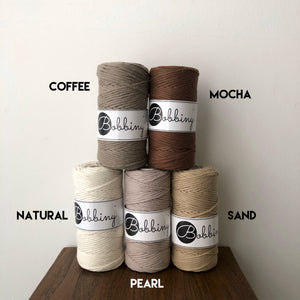 Bobbiny Cotton Macrame Cords (3mm)