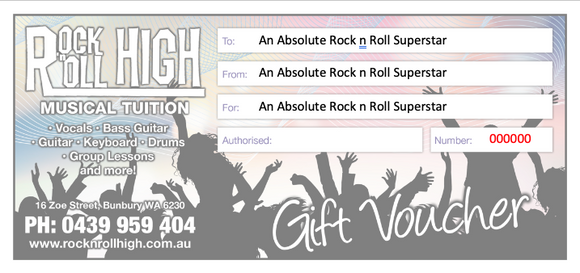 Gift Voucher - Kids Can Rock - Four lessons