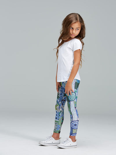 Kid's Leggings, COASTAL DREAMING