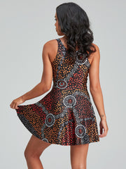 Dreamtime inspired woMen's skater dress with original Indigenous designs.
