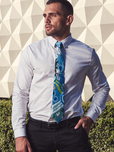 Necktie + Pin, COASTAL DREAMING