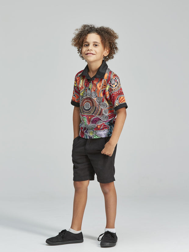 Colourful patterned kid&