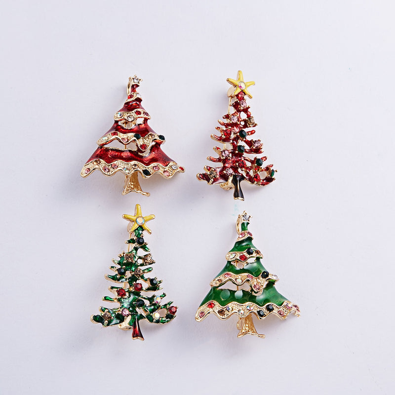 Christmas Brooches And Pins.Xmas Enamel Christmas Brooch Pin