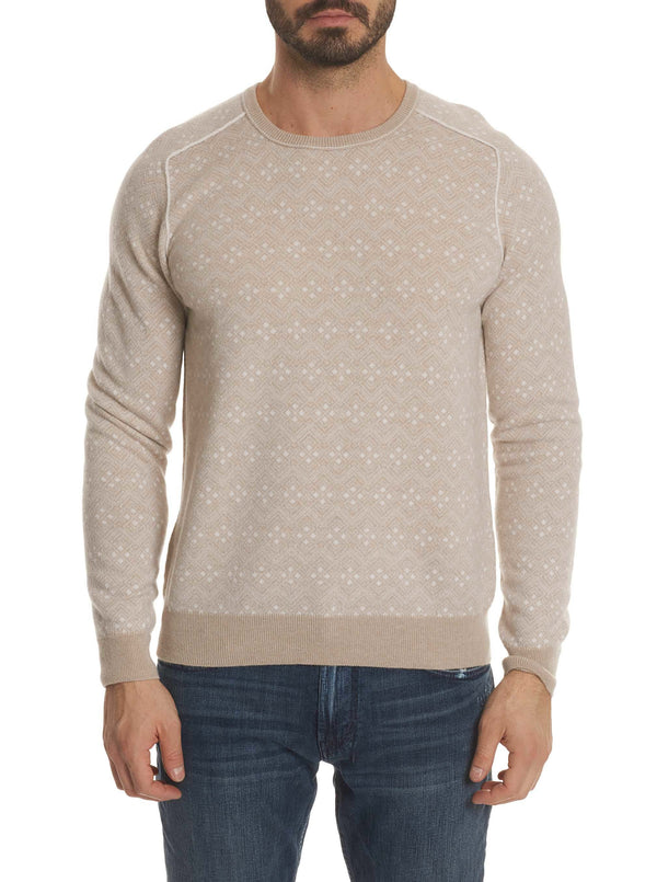R COLLECTION BRUNO CASHMERE CREW NECK SWEATER