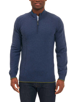 BAINES QUARTER ZIP SWEATER