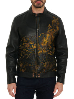 LIMITED EDITION CYPRESS SKELETON LEATHER JACKET