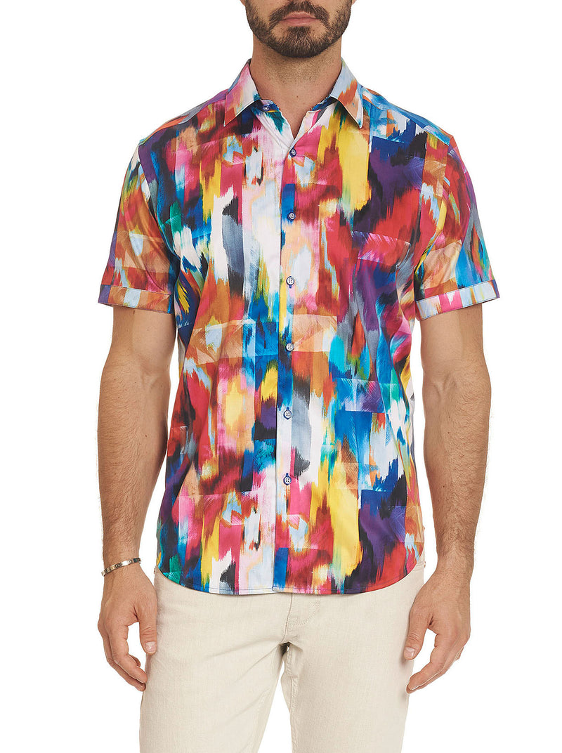 PRISM EFFECT SHORT SLEEVE SHIRT TALL