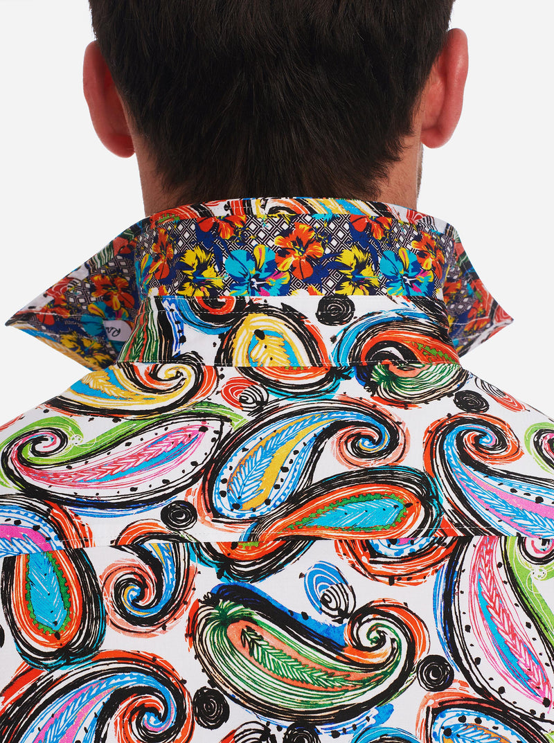 PAISLEY PUNCH SHORT SLEEVE SHIRT TALL