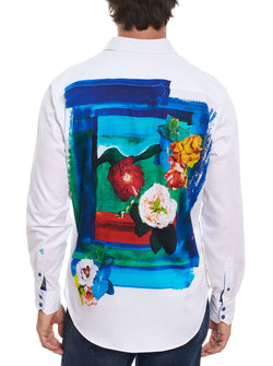 THE LUCIAN EMBROIDERED SPORT SHIRT