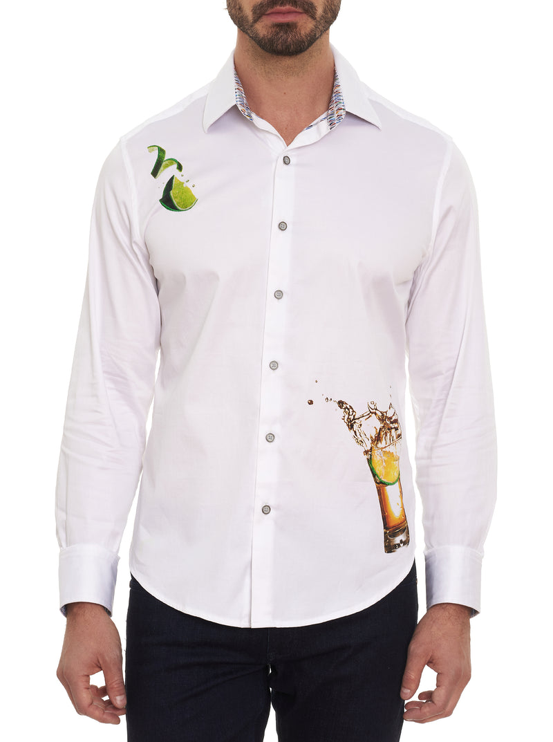 TEQUILA EMBROIDERED SPORT SHIRT TALL