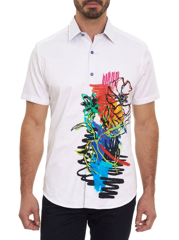 MASTER OF POP EMBROIDERED SHORT SLEEVE SHIRT
