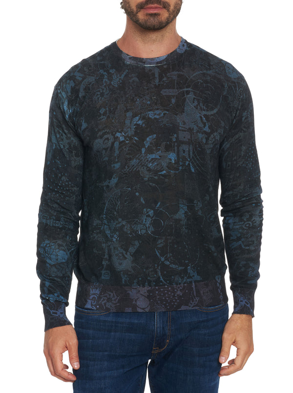 MINDSCAPE BLACK SWEATER