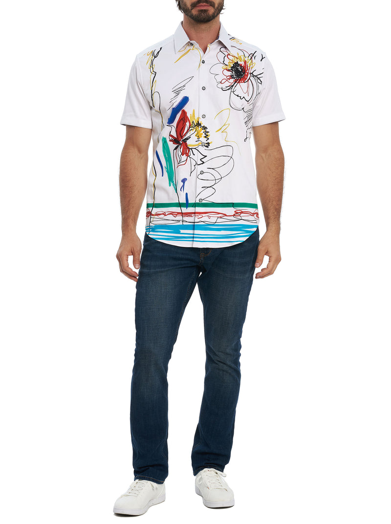 WIPE OUT EMBROIDERED SHORT SLEEVE SHIRT TALL