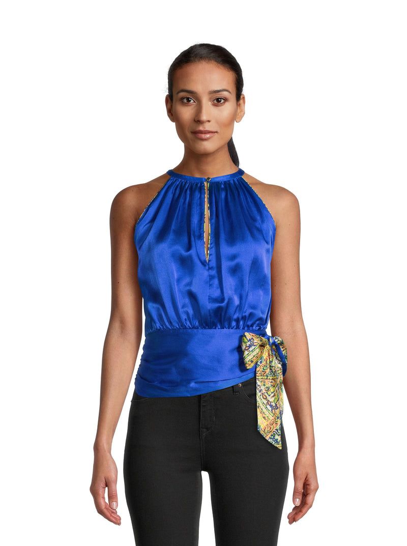 AVA SILK SLEEVELESS TOP