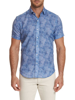 TAILORED FIT BOYER SHORT SLEEVE SHIRT - Blue