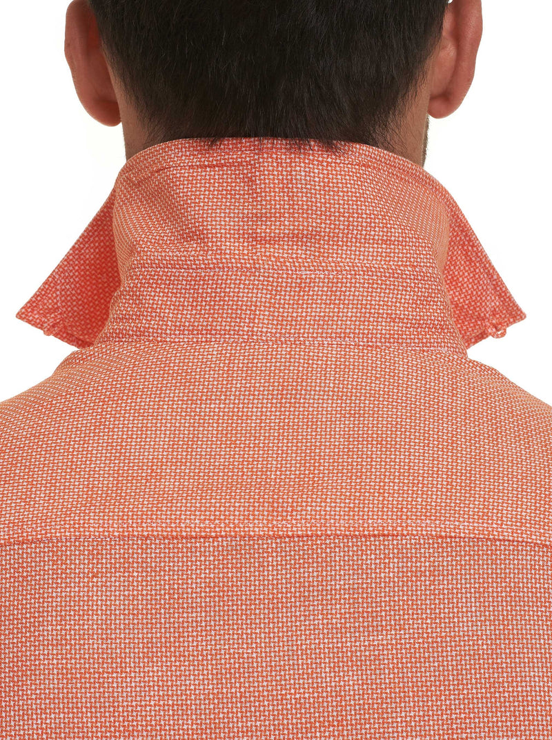TAILORED FIT LIAM SHORT SLEEVE SHIRT - Orange
