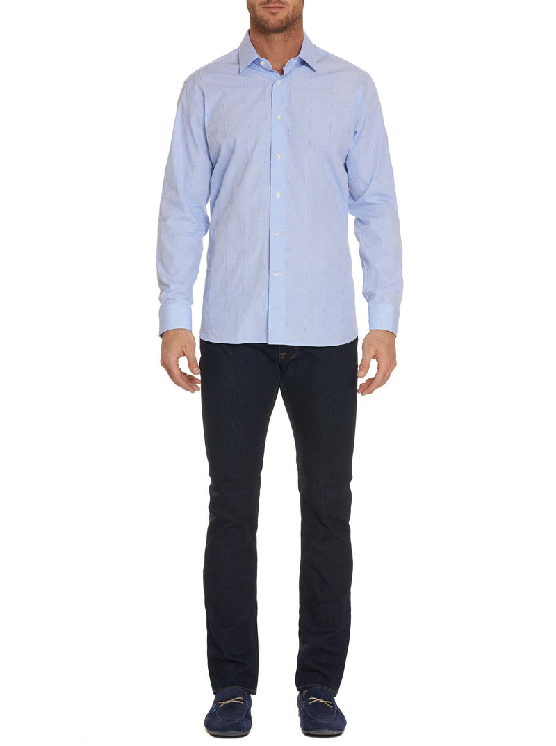 R COLLECTION RIPPED SPORT SHIRT
