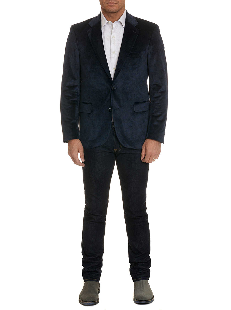 BARTON SPORTCOAT LONG - NAVY
