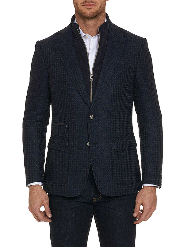 DOWNHILL TAILORED FIT SPORT COAT - Navy