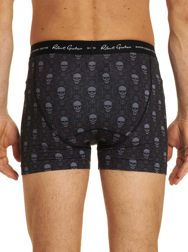 SKULL MOTIF BOXER BRIEF