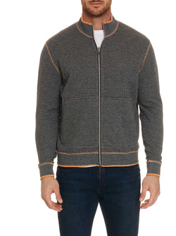 ANDO FULL ZIP KNIT - Charcoal