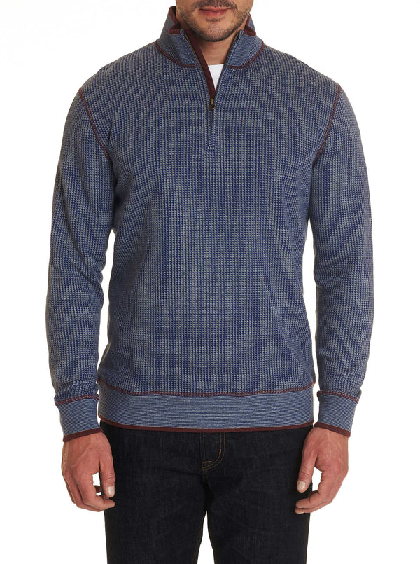 FIRTH 1/4 ZIP KNIT - Blue