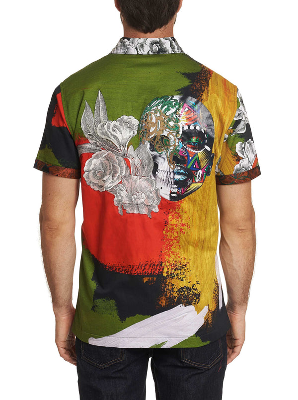 Limited Edition THE FLORAL SKULL SHORT SLEEVE SHIRT