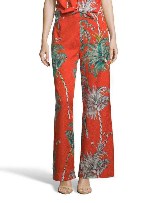 CORA MONKEY BOTANICAL PRINTED PANTS