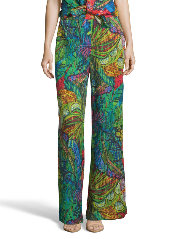 CORA LEAF BOTANICAL PRINT PANTS