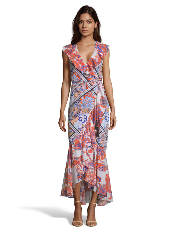 SOPHIA PAISLEY MIXED PRINT DRESS