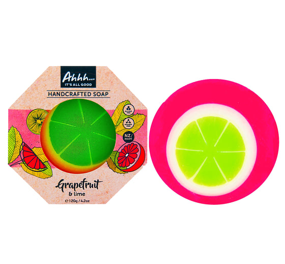 Lime and Pink Grapefruit Handcrafted Soap