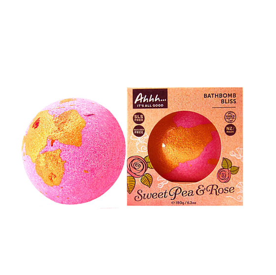 Sweet Pea Rose Bath Bomb