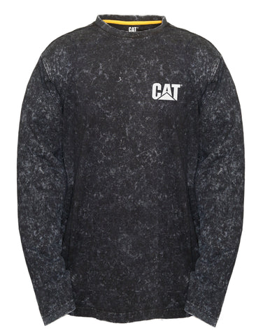 1510360.016 CAT Acid Wash Long Sleeve Tee Shirt