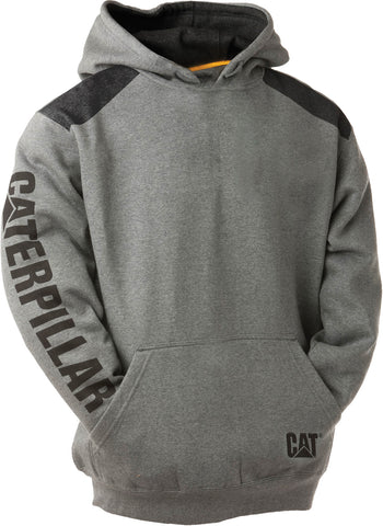 1910802.114 CAT Logo Panel Hooded Sweatshirt