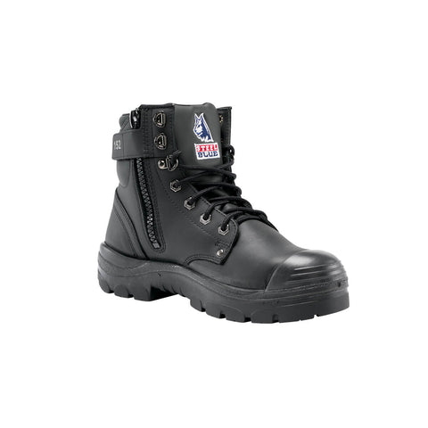 Steel Blue Argyle Zip Sided Bump Cap Safety Boot 332152