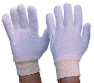 342CLKWL Cotton Gloves Interlock Poly/Cotton Liner Knitted Wrist Ladies