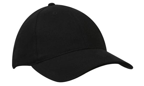 Cap 6 Panel Brushed Heavy Cotton 4199