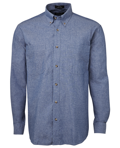 4CUL JBs Long Sleeve Chambray Shirt