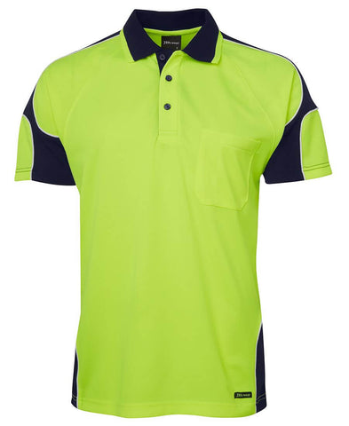 JBs Hi Vis S/S Arm Panel Polo 6AP4S
