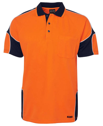6AP4S JBs Hi Vis Short Sleeve Arm Panel Polo