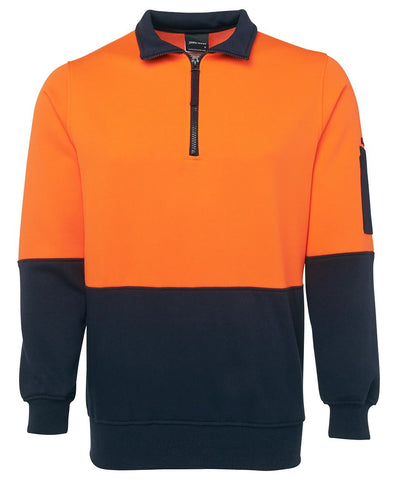 JBs Hi Vis 1/2 Zip Fleecy Sweat 6HVFH