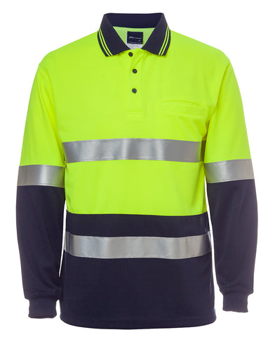 JBs Hi Vis Long Sleeve Day/Night Traditional Polo 6HVSL